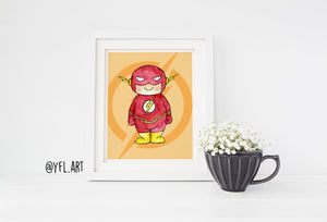 Flash nursery wall art print