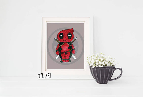 Deadpool kids room wall print poster