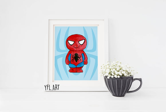 Spider-man - Watercolor art print