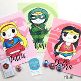 Personalize a Superhero Print with a name!