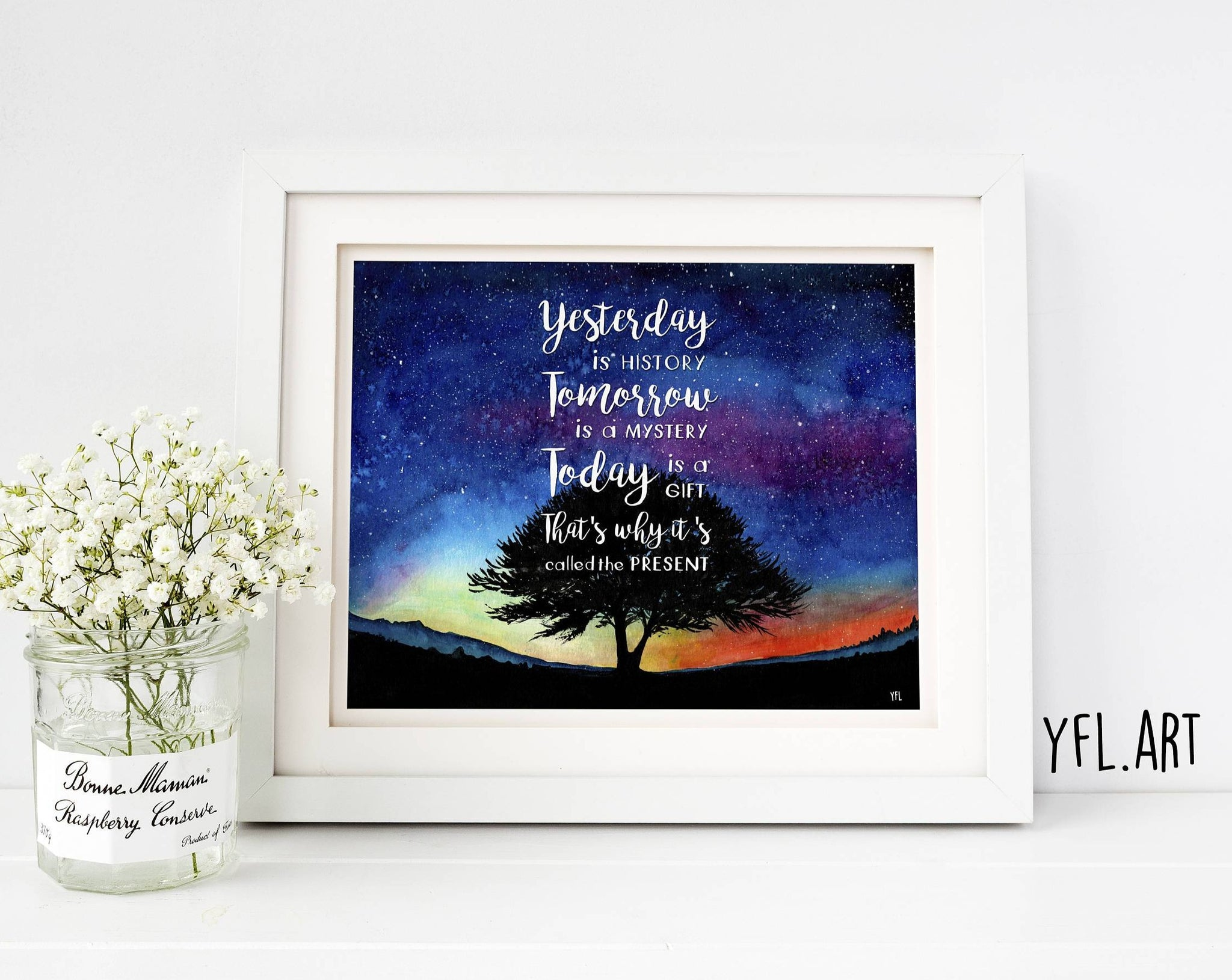 Kung Fu Panda Quote Inspirational Quote On A Milky Way Watercolor