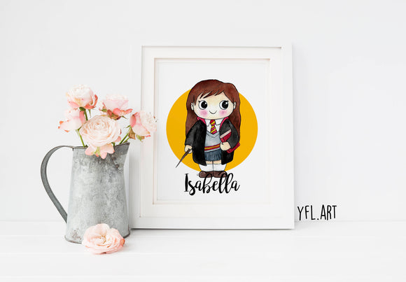 Personalized name art - Harry Potter, Hermione Granger, Ron Weasley