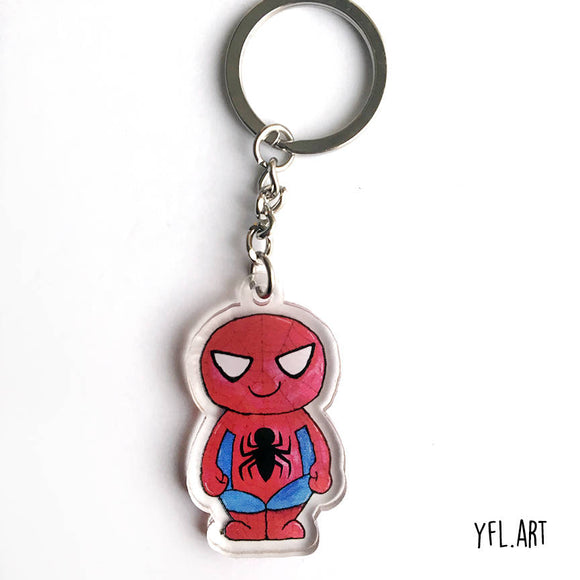 Spider-man Keychain - Double sided key ring