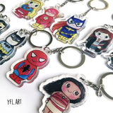Deadpool Keychain - Double sided key ring