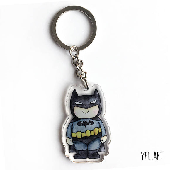 Batman double sided key charm