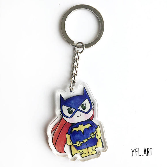 Batgirl keychain for backpacks