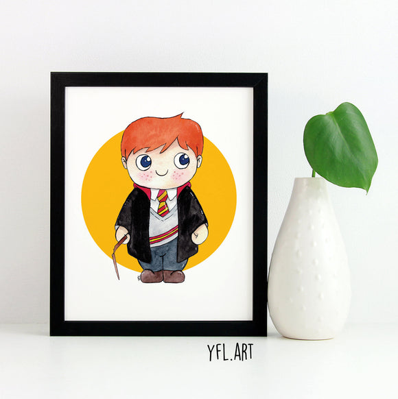 Ron Weasley Print - Watercolor Art Print