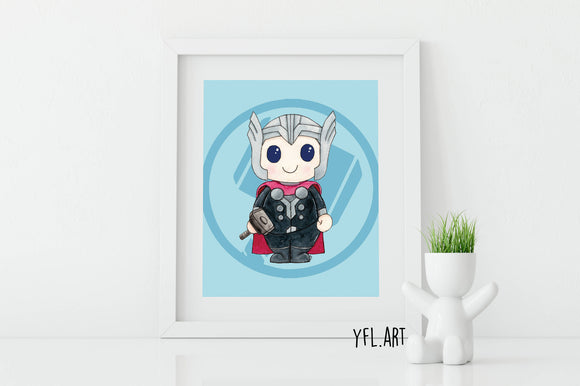 Thor Print - Watercolor art print