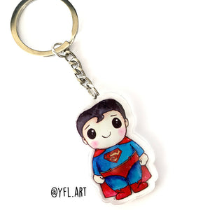 Superman Keychain - Double sided key ring