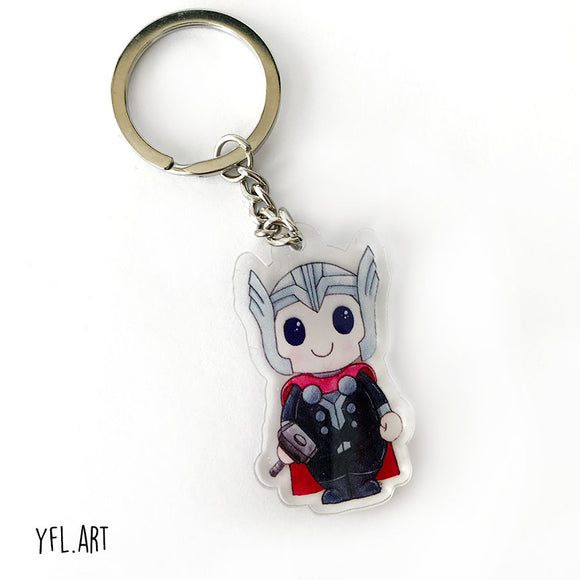 Thor Keychain - Double sided key ring