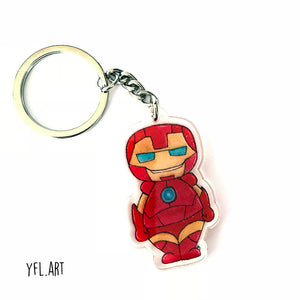Ironman Keychain - Double sided key ring
