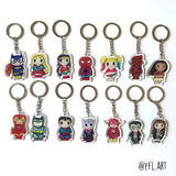 Batman Keychain - Double sided key ring