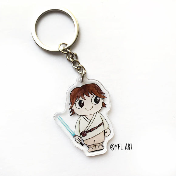 Luke Skywalker Keychain - Double sided key ring