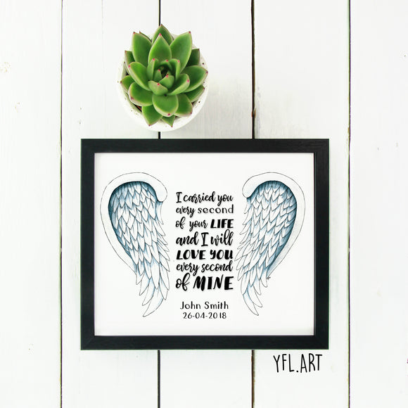 Infant loss memorial gift - Miscarriage Memorial for Pregnancy Loss
