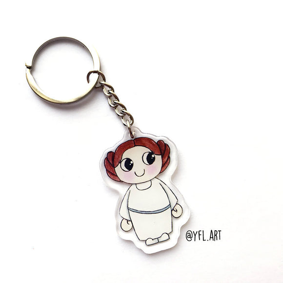 Leia Keychain - Double sided key ring