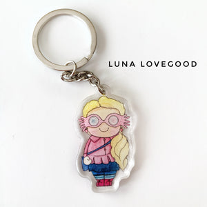 Luna Lovegood Keychain - Double sided key ring