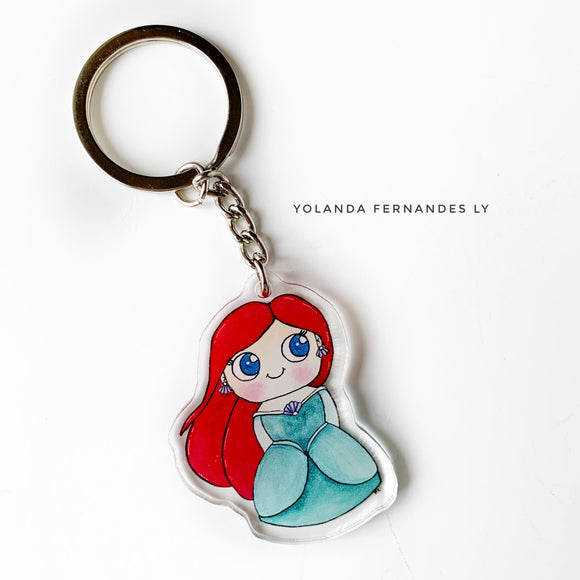 Ariel Keychain - Double sided Keychain