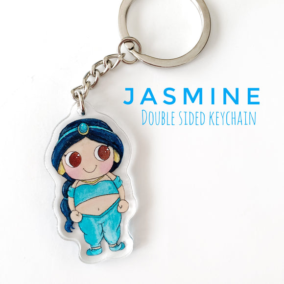 Jasmine from Aladdin Keychain - Double sided Keychain