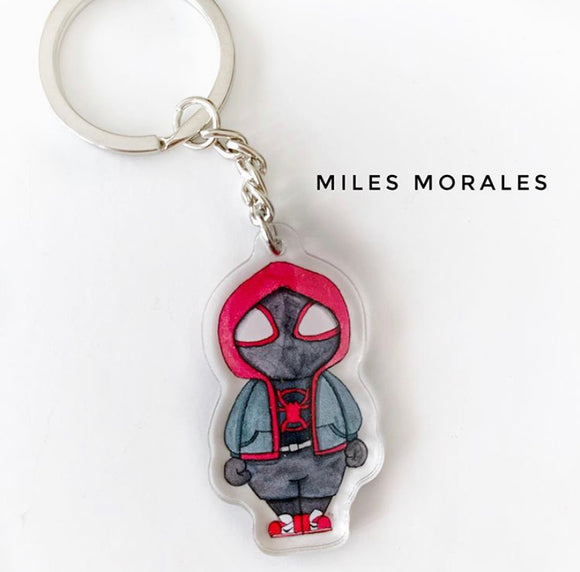 Miles Morales Keychain - Double sided key ring