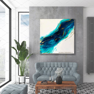 "Original Painting - 3 feet by 3 feet- ""Essence"" - Resin painting"
