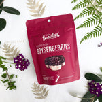 Boysenberry + White Chocolate Bites by Little Beauties