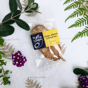 Ginger, Almond + Brazil Nut Biscotti by Molly Woppy