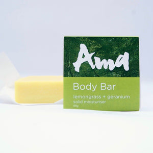 Lemongrass + Geranium Solid Moisturiser Bar by The Ama Life