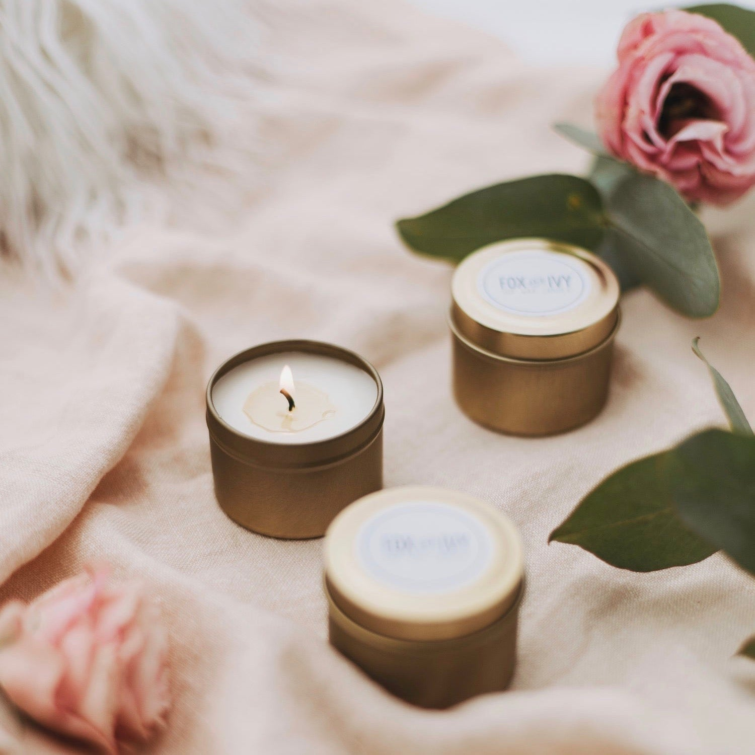 Mini Maple & Caramel Candle by Fox and Ivy