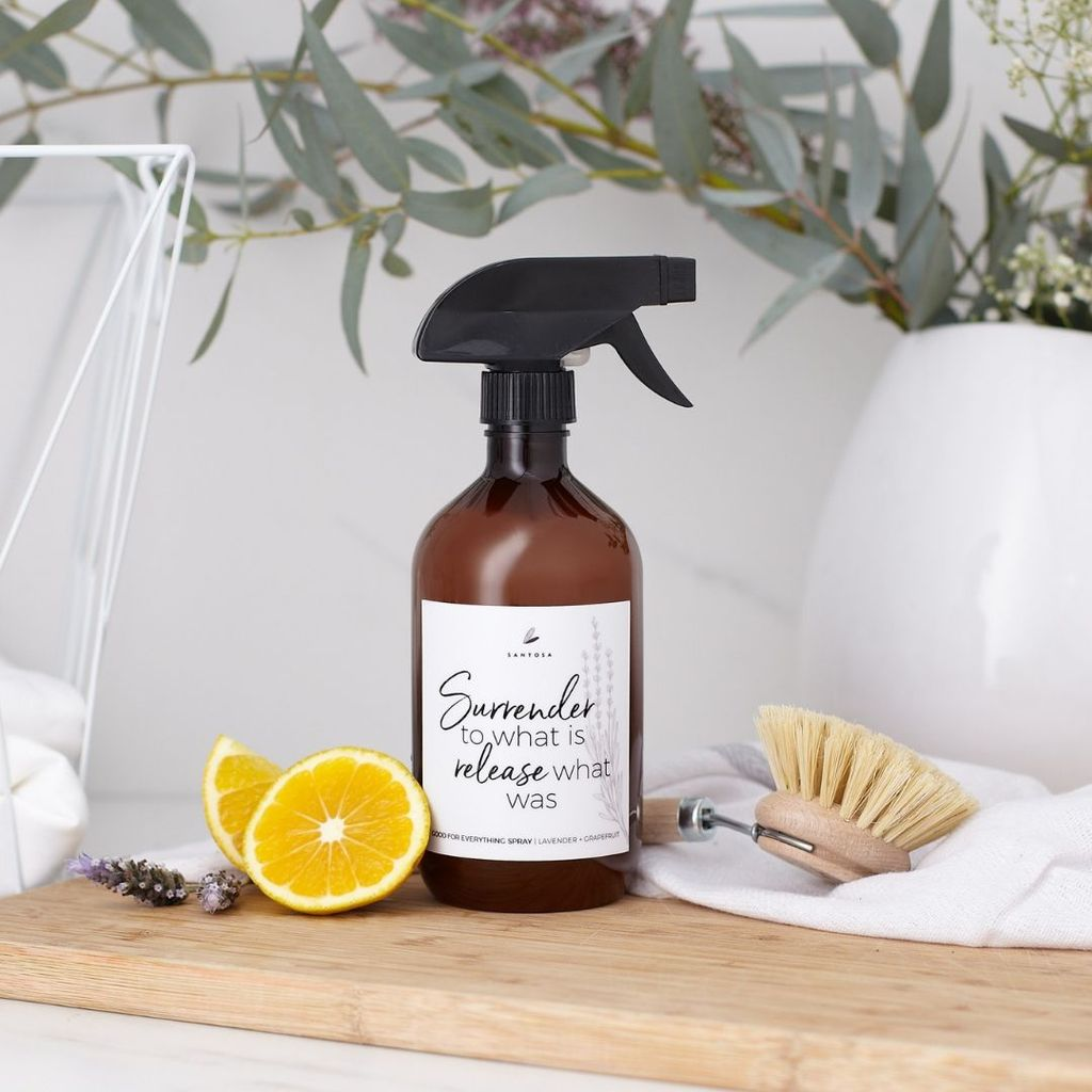 Lavender + Grapefruit Natural Cleaning Spray by Santosa