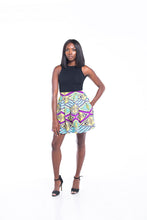 Load image into Gallery viewer, Bella Ankara Print Mini Skirt
