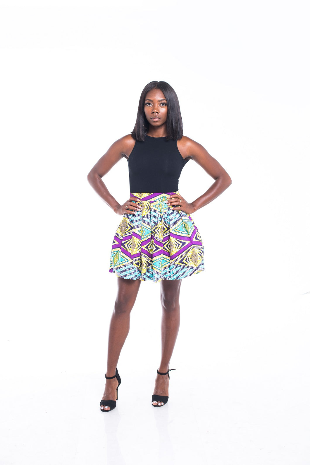 Bella Ankara Print Mini Skirt