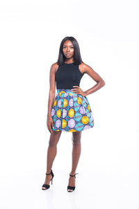Dream Ankara Print Mini skirt
