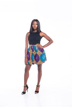 Load image into Gallery viewer, Lola Ankara Print Mini SKirt