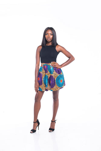Lola Ankara Print Mini SKirt