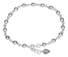 Sterling Silver 9 inch to 10 inch Adjustable Ball Link Anklet