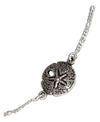 Sterling Silver 9 inch Figaroa Chain with Sand Dollar Anklet