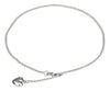 Sterling Silver 9 inch Bead Chain with Puffed Heart Anklet