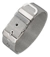 Stainless Steel 8 inch Adjustable Mesh Belt Buckle Band Style Bracelet