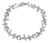 Sterling Silver 7.5 inch High Polish Alternating Musical Notes Link Bracelet