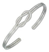 Sterling Silver High Polish Square Knot Cuff Bracelet