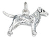 Sterling Silver Three Dimensional Labrador Retriever Dog Charm