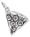 Sterling Silver Three Dimensional Pizza Slice Charm