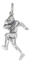 Sterling Silver Antiqued Running Football Player Charm