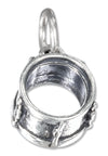 Sterling Silver Three Dimensional Drum Charm