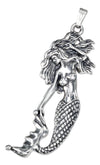 Sterling Silver Antiqued Mermaid Charm