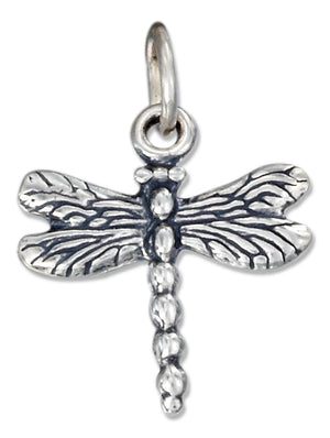 Sterling Silver Antiqued Dragonfly Charm