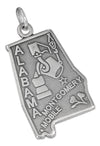 Sterling Silver Antiqued Alabama State Charm