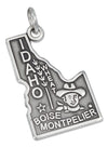 Sterling Silver Antiqued Idaho State Charm