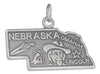 Sterling Silver Antiqued Nebraska State Charm