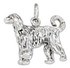 Sterling Silver Three Dimensional Afghan Hound Dog Charm